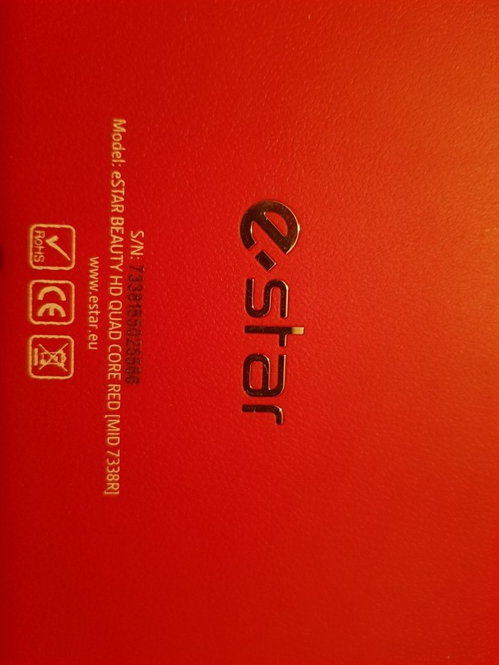 E-star tablet, αχρησιμοποιητο. Μοντελο: eStar BEAUTYHD QUAD CORE RED (. Photo 2