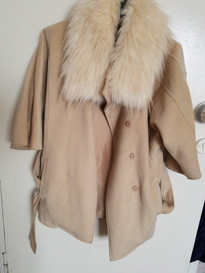 Продам весеннее пальто,размер s-ка,воротник снимается . Photo 0