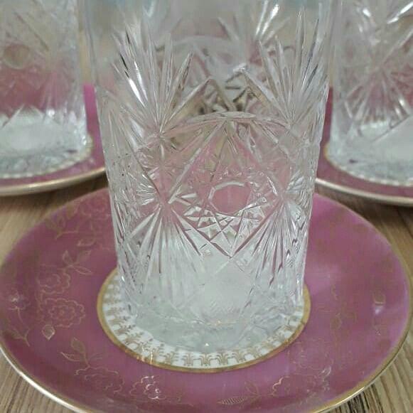 Чайные стаканы ссср, москва 6 штук. Photo 0