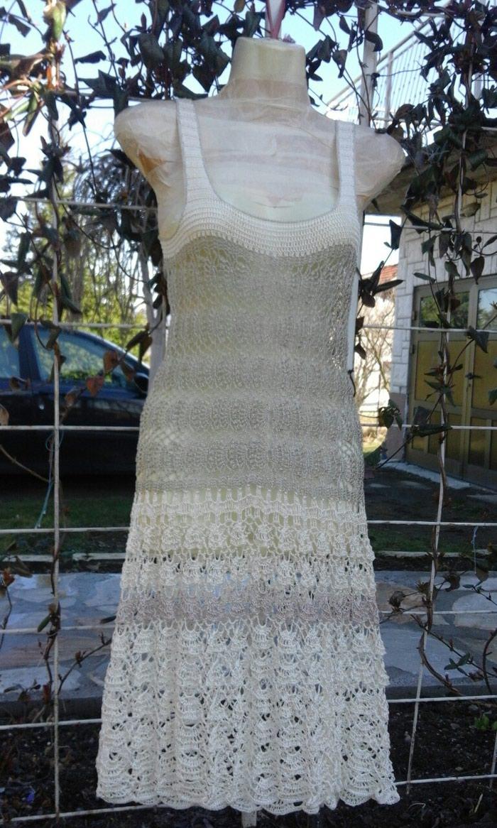 Heklana haljina rucni rad nova