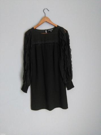 866bc56e212 WAREHOUSE! Υπεροχο μαυρο φορεμα καινουριο με δαντελα και μακρυ for ...