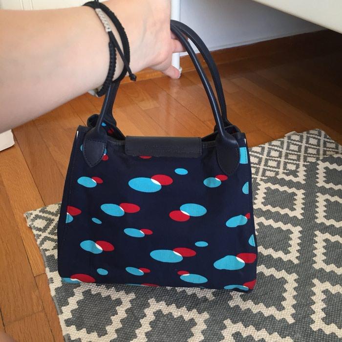 Longchamp canvas υφασμάτινη τσάντα. Σε σκούρο. Photo 2