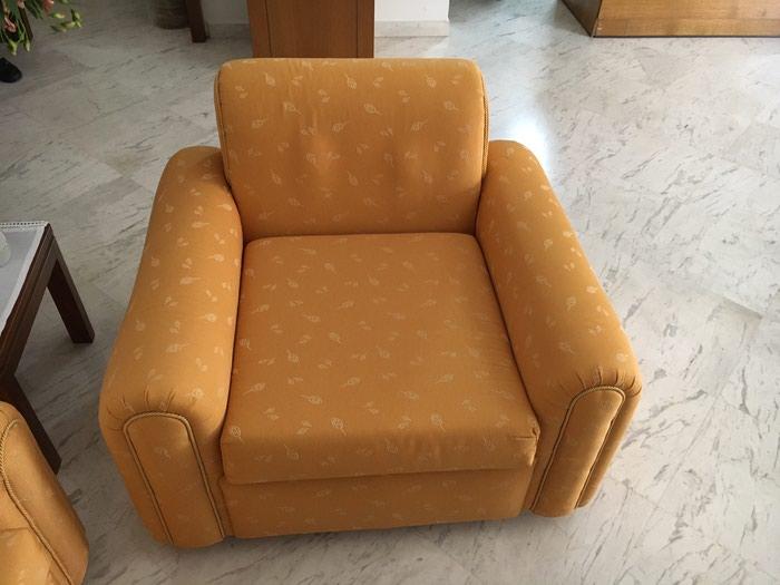 Σαλόνι : Τριθέσιος καναπές 2 πολυθρόνες 3 τραπεζάκια 2 λάμπες σε Κεντρική & Δυτικά Προάστια