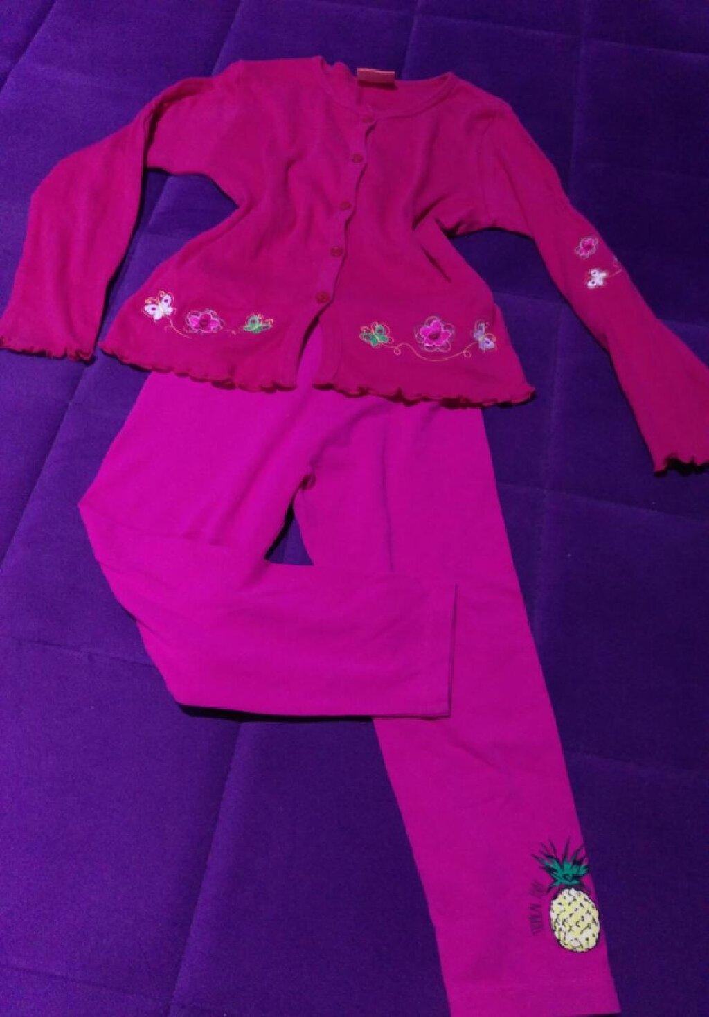 Ostala dečija odeća - Jagodina: Helanke, bluzica nova i majica, velicina 122