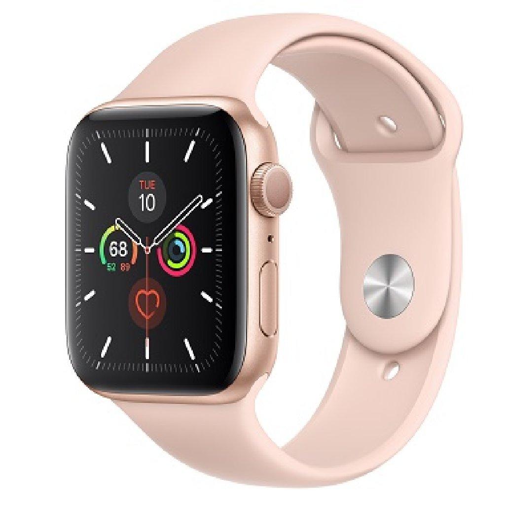 Apple Watch Series 5 44mm GPS Gold Aluminum Case Pink Sand Sport Band