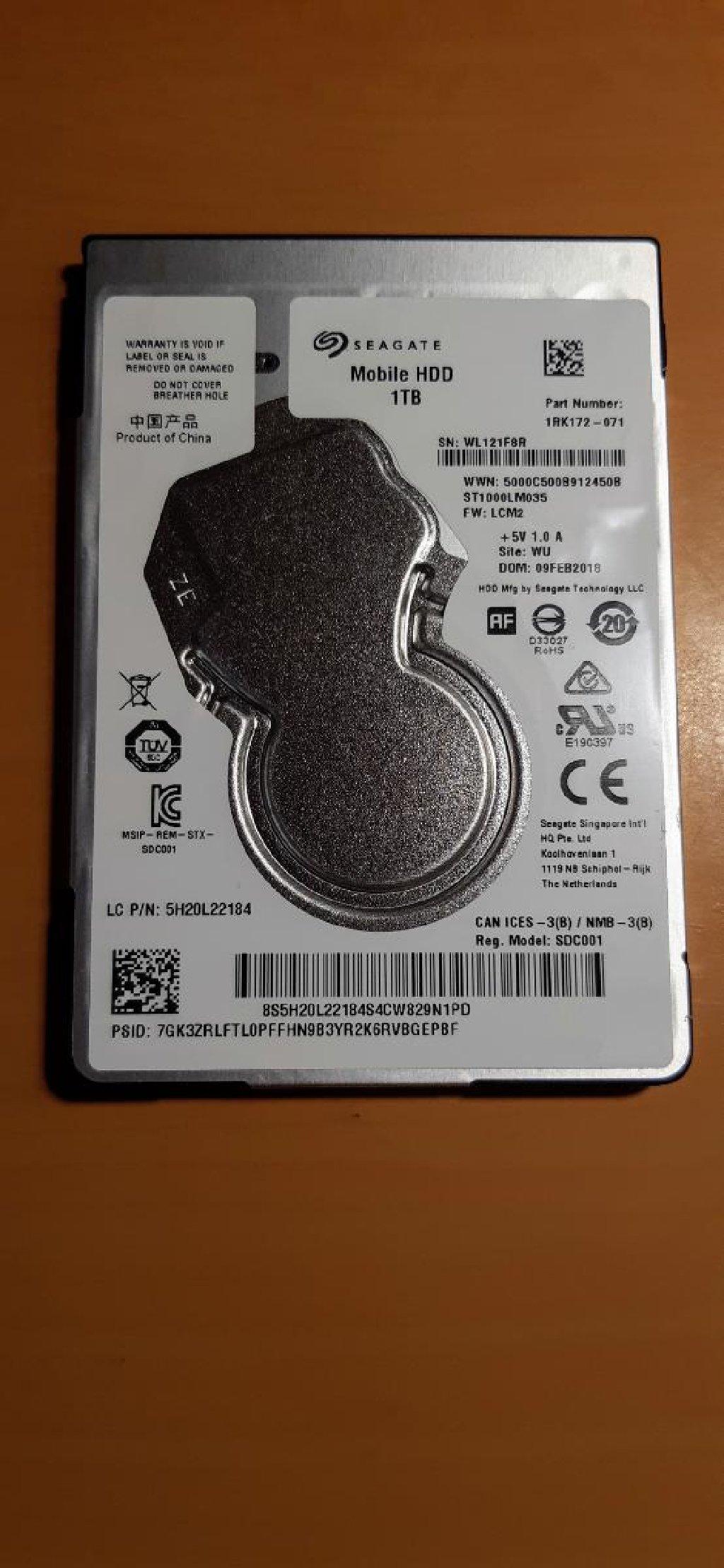 "SEAGATE Mobile HDD 1TB (2.5"")"