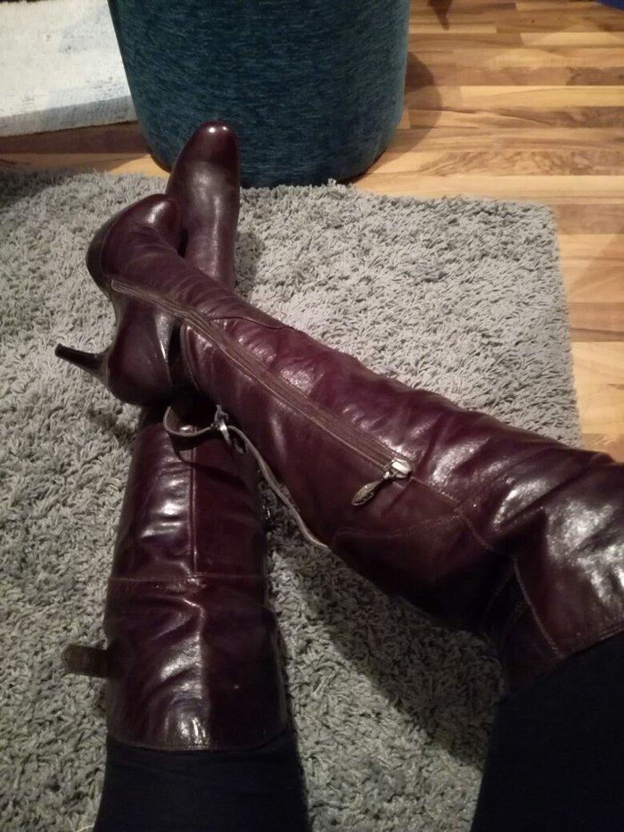Casadei kozne cizme sa originalnim serijkim brojem br 38 😊😊😊😊 nos - Pirot