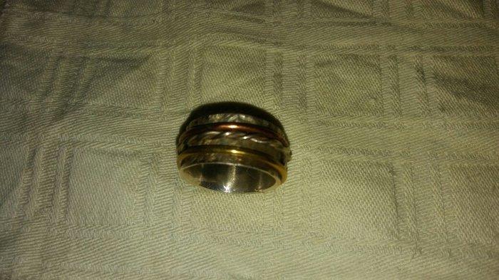 Χειροποιητο. φαρδυ δαχτυλιδι ασημι 925.. Photo 3