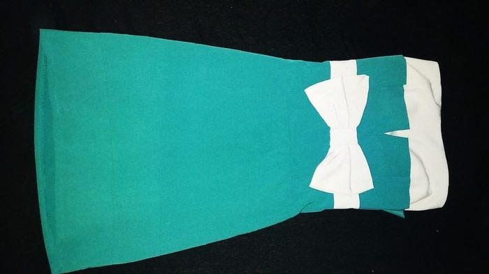 Μπλέ πράσινο φόρεμα μίνι με φιόγκο σε Αθήνα