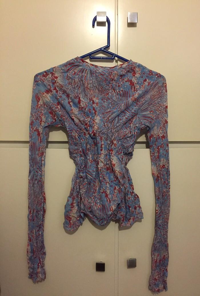 Μπλούζα boho Nolita NY εμπριμέ ύφασμα με σφιγγοφωλια/ λαστηχο στη μέση και ανοιγμα μπροστά