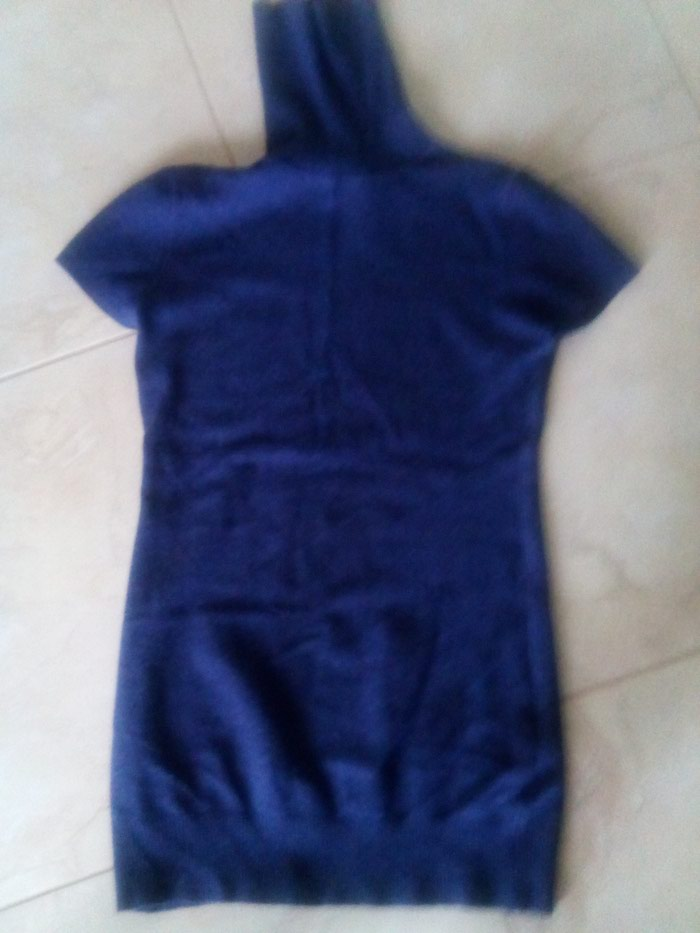 Μπλε μάλλινη κοντομανικη ζιβάγκο. Photo 0
