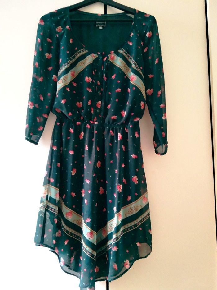 Boho style  πράσινο φλοραλ φόρεμα, bershka, large, 10€ σε Περιφερειακή ενότητα Θεσσαλονίκης