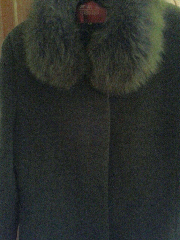 Пальто женское с подкладом, цвета хаки, 50 размер