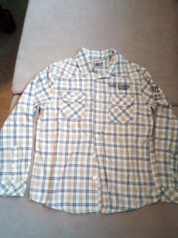 Dečija muška pamučna košulja br. 10, par puta nošena