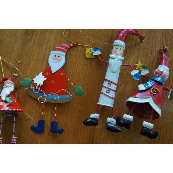 4 χριστουγεννιατικα στολιδια μεταλικα . Photo 1
