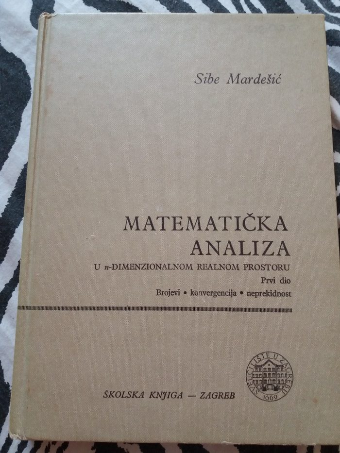 Matematička analiza treće izdanje 1988 270 strana - Krusevac