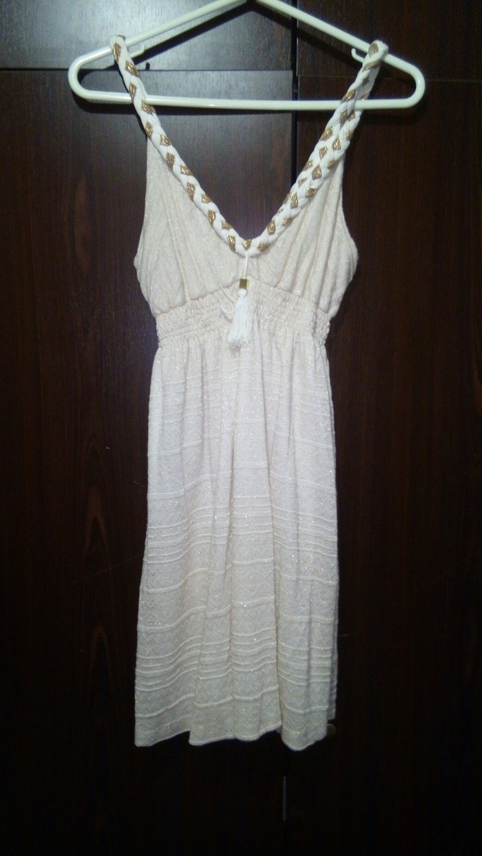 BSB φορεμα εκρου με χρυσες λεπτομερειες small. Photo 1