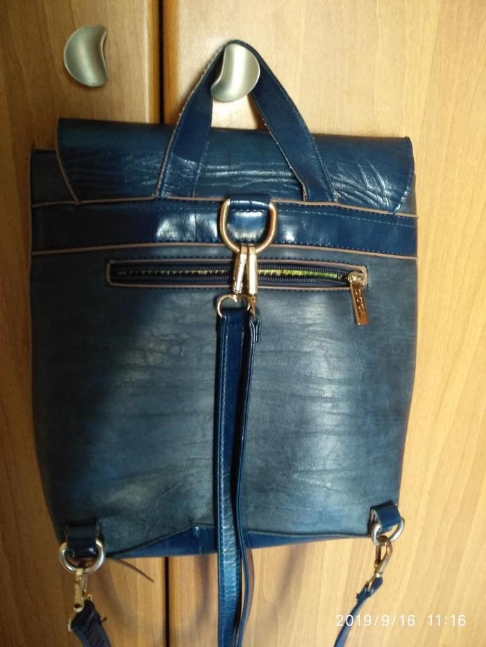 Τσάντα ώμου DOCA σε καλή κατάσταση. Μπλε.. Photo 1
