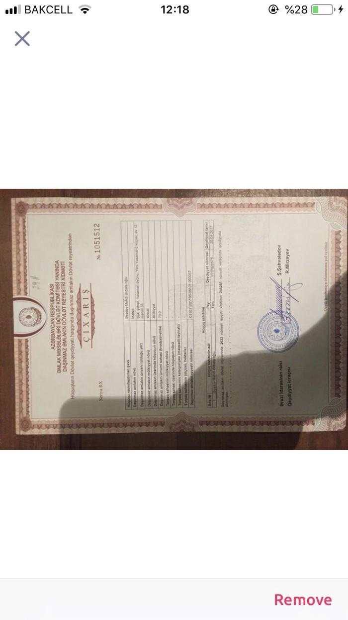 Mənzil satılır: 3 otaqlı, 73 kv. m., Bakı. Photo 2