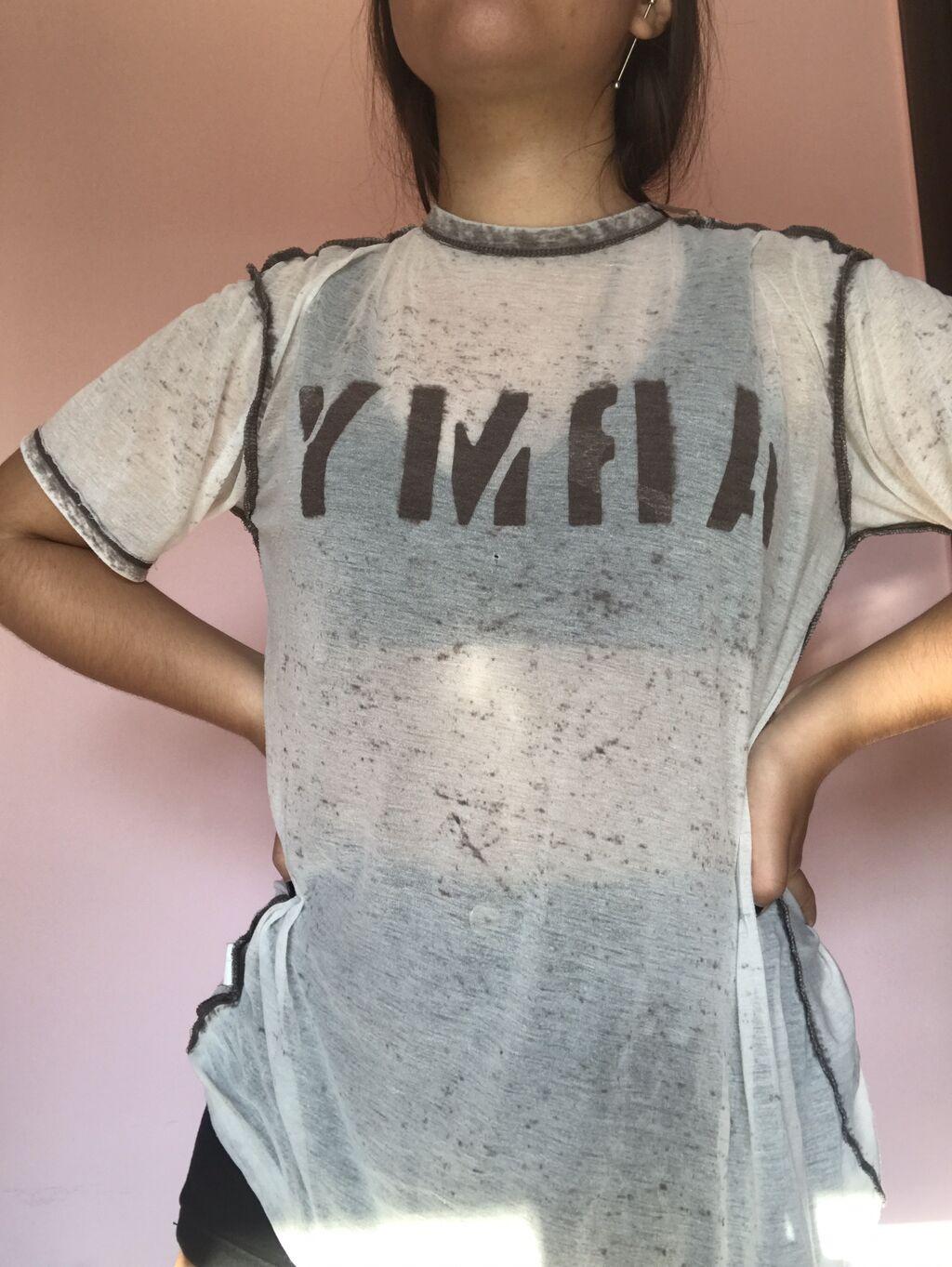 Αθλητικές φόρμες - Κέρκυρα: Διαφανη oversized μπλουζα