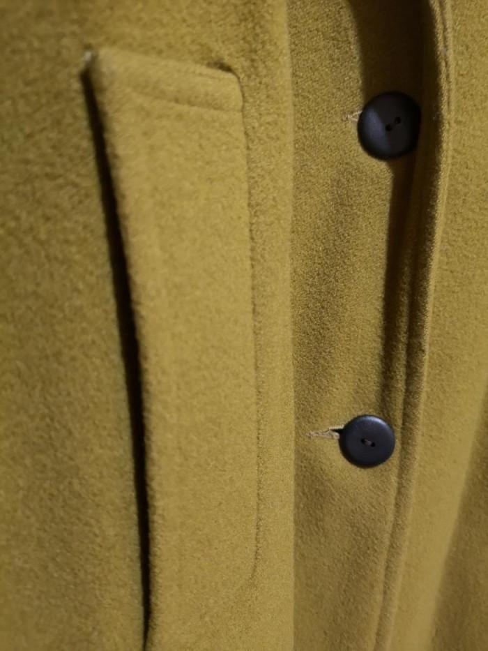 Maxi παλτό ολομαλλο, Νο Medium Large   με βελούδινο μαύρο γιακά. . Photo 2