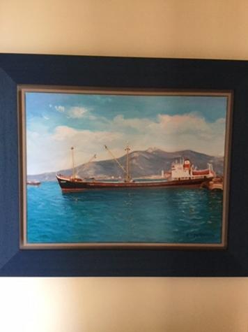 Πινακας ζωγραφικης του Σερεμιτακη 2006 διαστασεων μηκος 82 υψος 67