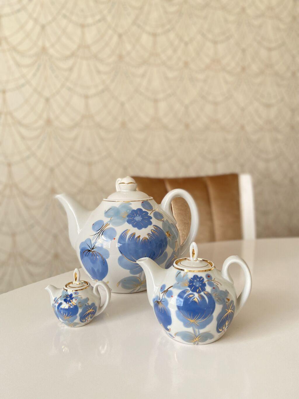 Редкий набор фарфоровых чайниковнабор чайников «семейный» или   Объявление создано 15 Сентябрь 2021 12:27:48: Редкий набор фарфоровых чайниковнабор чайников «семейный» или