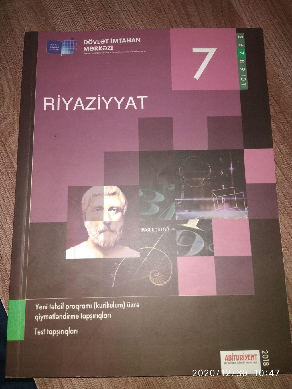 Bakida 4 Azn Dim Riyaziyyat 7 Ci Sinif Kitab Yenidir Istifadə Olunmayib Kitablar Jurnallar Cd Dvd Lalafo Azda