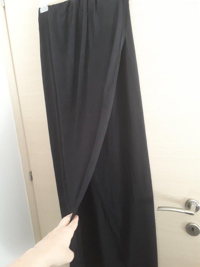 Φορεμα μακρυ μαυρο κρουαζε σαν φακελος. one size. 👉Πατωντας anthi στη. Photo 1