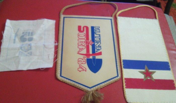 Lot- ORA, dve zastavice i amblem. Photo 1