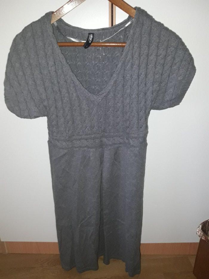 NOV haljina dzemper i kozne helanke