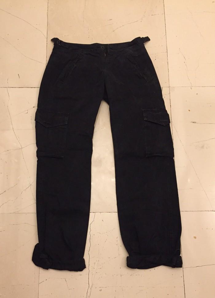 Repaly Cargo γυναικείο μαυρο παντελόνι με τσέπες στο πλαι