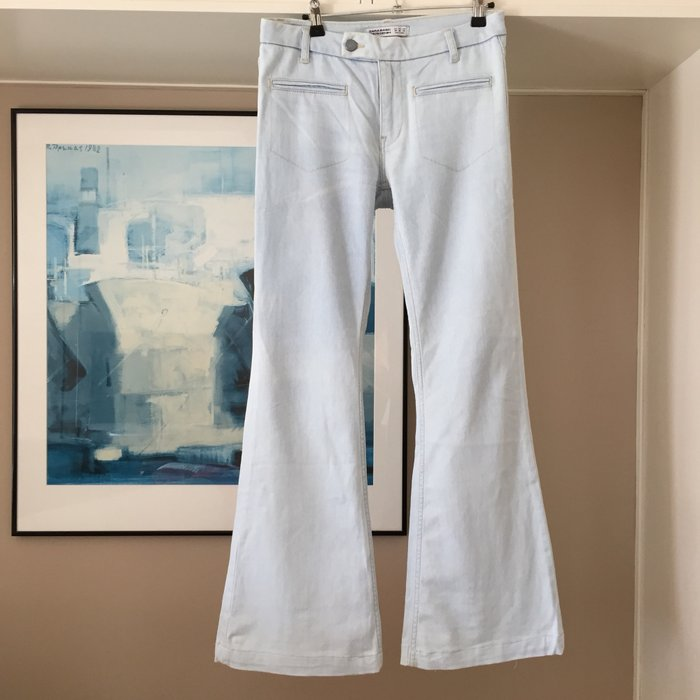 Zara ανοιχτό γαλάζιο jean καμπάνα.. Photo 4