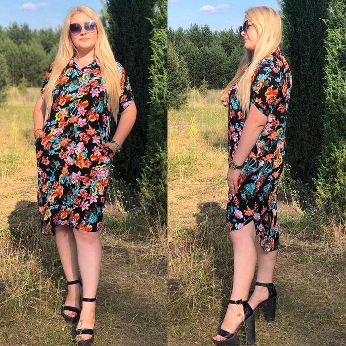Женское платье  Ткань штапель Размеры : 48,50,52,54 Цена: 500 сом. Photo 0