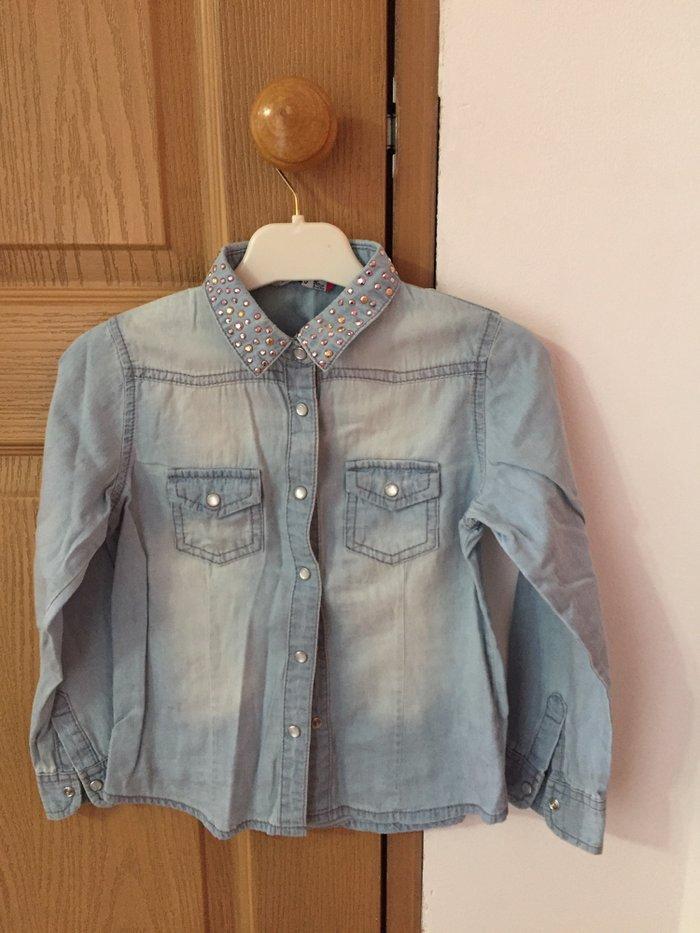 Рубашка джинсовая для девочки. размер 116. на 4-5 лет. в Бишкек