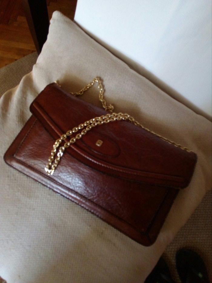Kozna braon torbica
