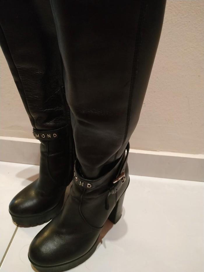 Μπότες μέχρι γόνατο, δέρμα, Richmond, νούμερο 36, σχεδόν καινούριες. Photo 2