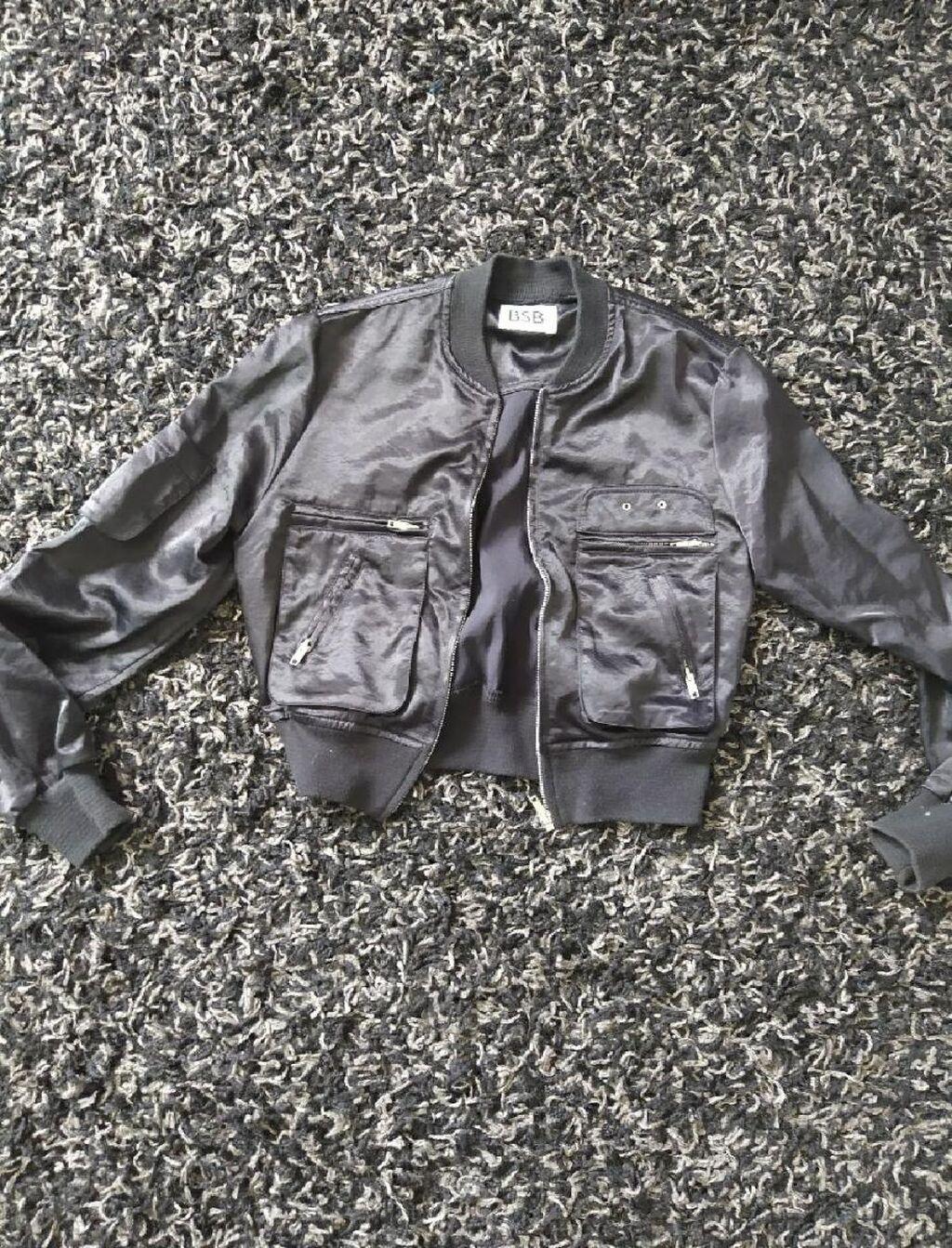 BSB Bomber satin jacket, Size L, black