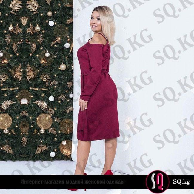 c0406ec42d8 Стильное платье футляр с открытым плечом цвета рубин за 3900 KGS в ...