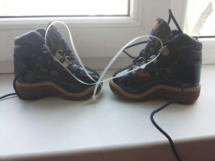 Ботинки деми фирма Timberland. Лакированные. Новые. Размер 20.5. Photo 2
