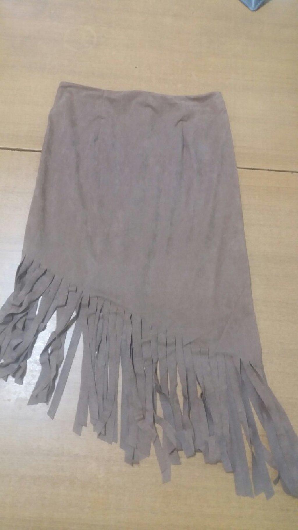 Zenska suknja od velura vel uni