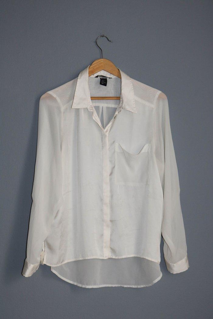 H&m υπολευκο αερινο πουκαμισο