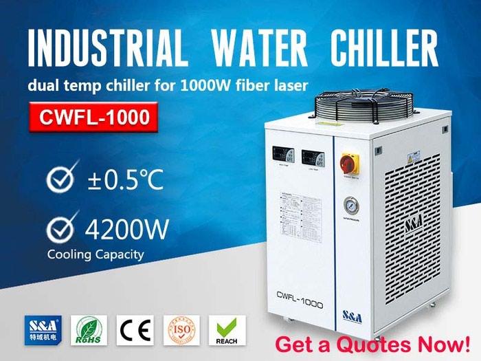 Closed Loop Water Chiller Unit for 1000W Fiber Laser Cutting Machine in Amargadhi