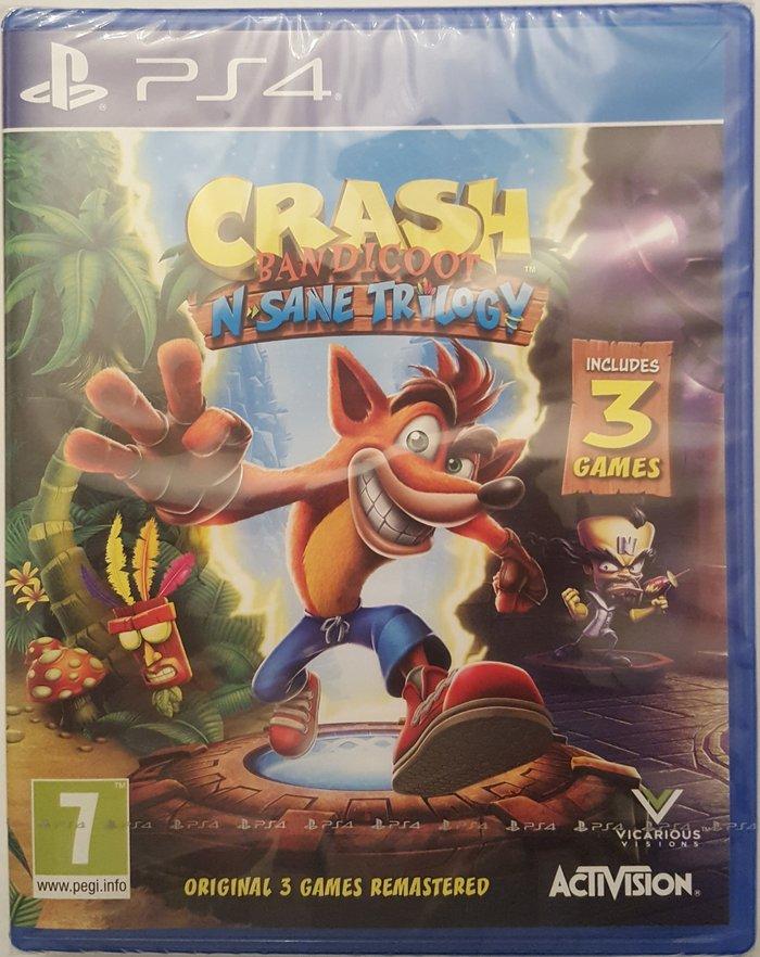 Bakı şəhərində Ps4 üçün crash n-sane trilogy oyun diski. Yenidir. Rus dilində menyu i