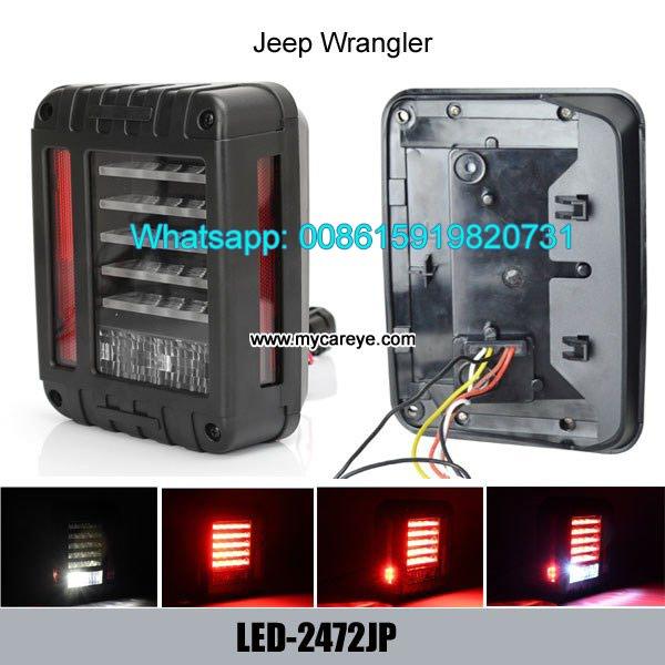 Jeep Wrangler LED Tail Lights Brake Reverse Light Rear Back Up Turn in Putalibazar