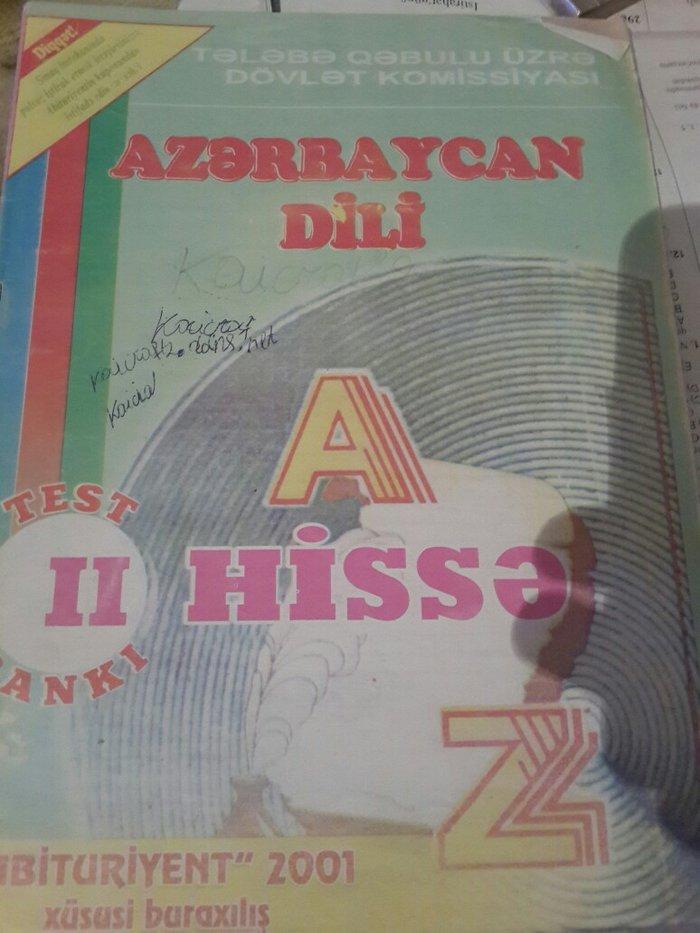 Bakı şəhərində Tqdk azərbaycan dili test toplusu abituriyent 2001 buraxılışı 2ci