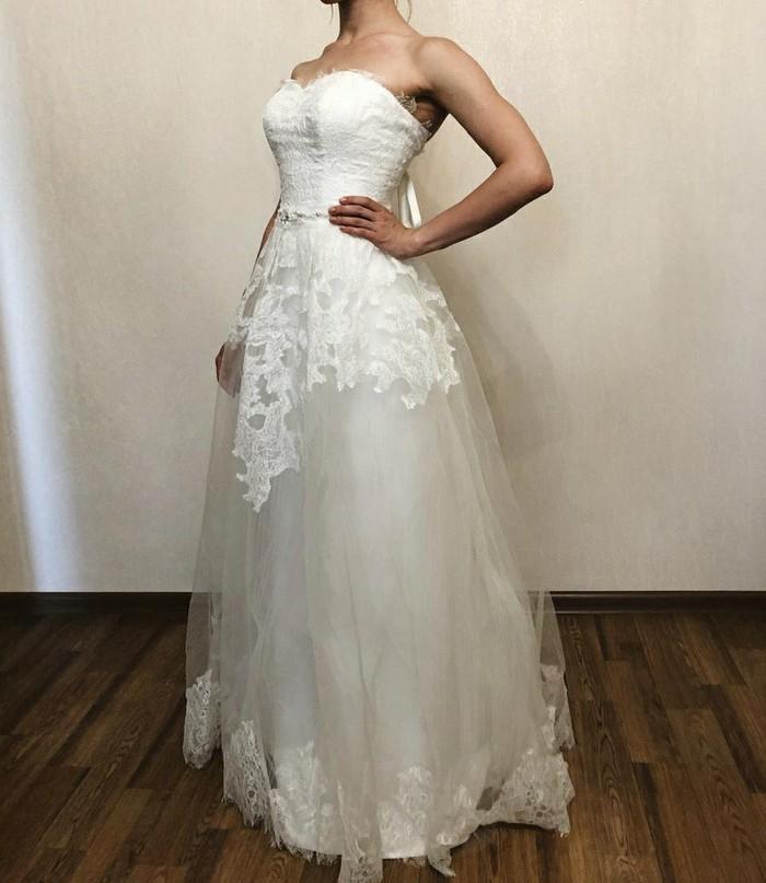 Новое (!) свадебное платье размер универсальный. Photo 1