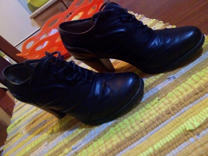 Kozne cipele.crne.vel 37.obuvene par puta.udobne. Photo 0
