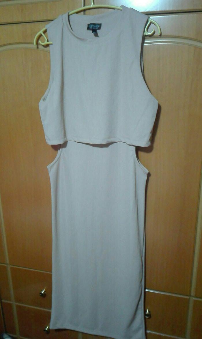 Φόρεμα με κοψίματα nude midi large. Photo 1
