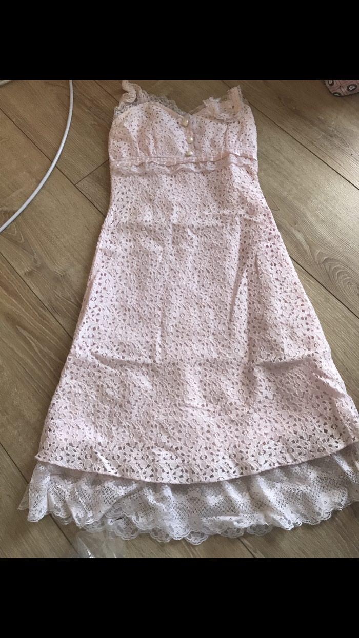 Prelepa haljinica nezno roze boje cipkana velicine Small / S!!!: Prelepa haljinica nezno roze boje cipkana velicine Small / S!!!